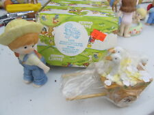 Enesco Country Cousins Katie with wooden cart in box