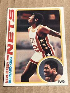 1978-79 Topps Basketball #75 Bernard King New Jersey Nets RC Rookie HOF
