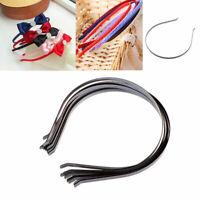 10pcs 5mm Black Plain Metal Headband Hair Band For DIY Hair Accessories Crafts