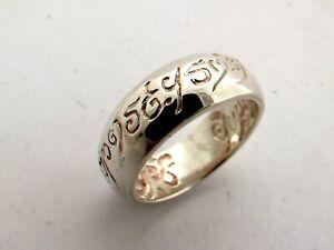 """Herr der Ringe """"eine Ring"""". 925 Sterling Silber. verschiedene Größen. 10 Gramm."""