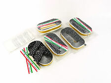 Ambrosio handlebar tape vintage  bicycle black w white polka dots NOS x 5 packs
