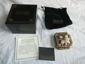 Joan Rivers Enamel Keepsake Box Hidden Treasures Ltd Edition Removable Pin 2007