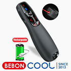 Red Laser Wireless Presentation Remote USB Rechargeable Presenter Remote Control