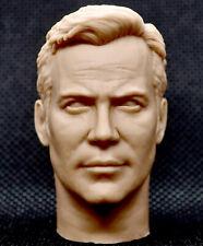 1/6 scale unpainted action figure head sculpt hot star trek captain kirk toys
