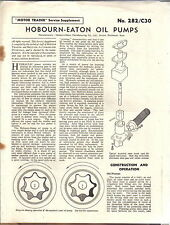 Bombas De Aceite hobourn-Eaton Motor Trader servicio Suplemento No. 282/C30 1957