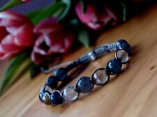 Makramee Armband Bracelet Shamballa  Damen mit Naturstein facettiert Achat