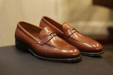 Alden 3556 Plaza Tan Brown Leather Penny Loafers Shoes Made in USA New Size 9 D