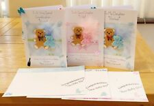 LARGE A4 FOLDED PERSONALISED GRAND/PARENTS/MUM TO BE BABY SHOWER CARD -GIRL