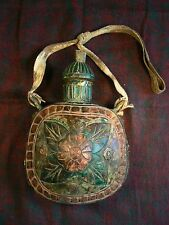 Nepal - antique water bottle (wood and metal) / cantimplora antigua /Feldflasche
