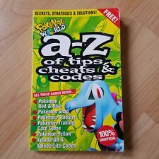 A-Z Of Tips Cheats & Codes 2001 Pokemon World Red Blue Snap Stadium Yellow