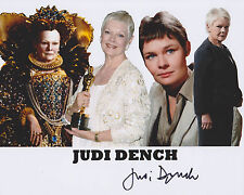 Judi Dench Hand Signed 8x10 Photo James Bond M 007 Skyfall Best Exotic Marigold