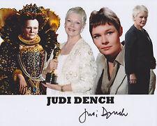 Judi Dench Hand Signed 8x10 Photo James Bond M 007 Skyfall Best Exotic Marigold