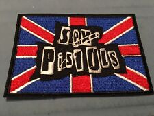 """Sex Pistols Embroidered Iron/Sew ON Patch 3.25"""" x 2.25"""" Rock Metal Music"""