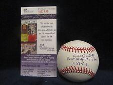 Tony Kubek Autographed OML (Selig) Baseball w/ROY Insc. - JSA Cert