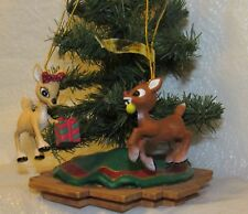 Rudolph The Red Nosed Reindeer and His Girlfriend Clarice Miniature Ornaments