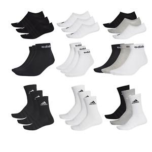 3 Paar adidas Socken. Nach Wunsch No-Show, Quarter oder Sport. invisible