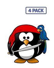 Linux Penguin Pirate Tux Animal Bandana Bird Macaw Sticker Vinyl Decal 1-448