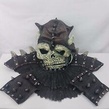 Skull Warrior Set Latex Mask Neck Collar 2 x Cuffs Halloween Costume Accessory
