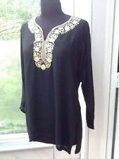 Ladies' Black Blouse / Tunic - S/M
