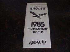 Philadelphia Eagles---1985 Training Camp Roster---4x8 Folded---XHTF