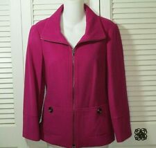 Carlisle Magenta Wool/Cashmere Cropped Jacket Women Size 4