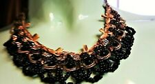 Michal Negrin Unique Vintage Style Lacy Swarovski Crystals Necklace Choker Gift