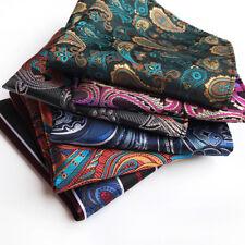 Men's Handkerchief Pocket Square Vintage Paisley Silk Wedding Party Chest Tower