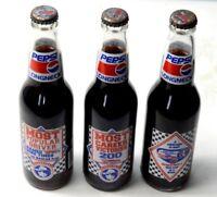 Pepsi Longneck 3 Bottles Commemorative Most Career Victories 200 - Richard Petty