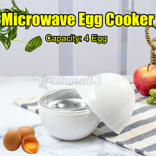 Microwave Egg Cooker 4-Eggs Cooking Boiler Steamer Easy Quick Breakfast