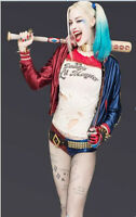 Harley Quinn Cosplay Jacket Suicide Squad Costume Halloween Outfits Full Set Hot