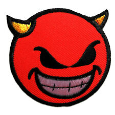 orange Ø7,2cm -Application badges Iron on patches Smiley Positive Thinking
