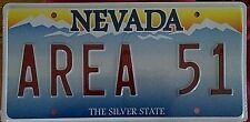 "Las Vegas Nevada ""AREA 51"" Souvenir/Novelty/Vanity License Plate"