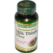 3x Nature's Bounty Milk Thistle 175mg Herbs Health Dietary Supplement Body Care
