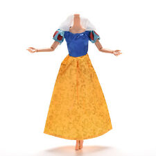 """1 Pcs Party Grown Doll's Dress For Snow White Barbies 11"""" Dolls AS1  FF"""