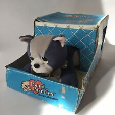 Vintage 1980's Original Hornby Pound Puppies Purries - Plush Blue Cat Boxed
