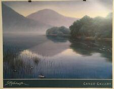 FINE ART LITHOGRAPH: The Loch By Alan Stephenson 32 X 25.5
