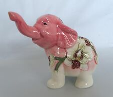 Old Tupton Flowers Orchid Elephant Ceramic Figurine * New in Box *