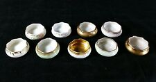 9 Antique Open Salt Dips Or Cellars American Belleek Willets Lenox - No 2 Alike