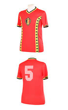 Belgio 1982 WORLD CUP RENQUIN 5 Rosso Replica Shirt M