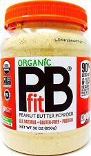 PBfit Organic Peanut Butter Powder Vegan Gluten-Free Non-GMO Less Fat USA, 30 oz