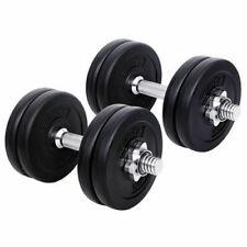 Everfit 15kg Weight Dumbbells Plates Home Gym Set