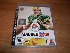 (2) Madden NFL 09 (PS 3 2008) + NHL 11 (P3, 2010) Football Hockey Games Manuals