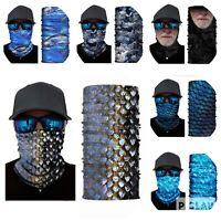 Lot of 6 High Quality Neck Gaiter Tube Bandana Face Mask Biker Ski Buff Unisex