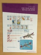 WOW air (Iceland) Airbus A321 Safety Card (Type B Rev.0)
