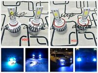 9005+H11 Combo LED Headlights Bulb Kit High Low Beam Super Bright 8000K Ice Blue