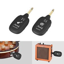 Muslady Uhf Guitar Bass Wireless System Transmitter Receiver Rechargeable 50m
