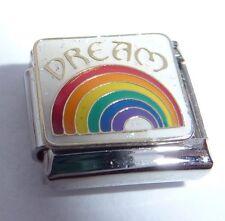 DREAM & RAINBOW Italian Charm - Life Hope Love 9mm fits Classic Starter Bracelet