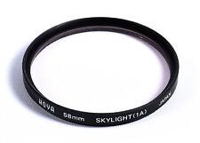 Hoya 58mm Skylight 1A Filter for D/SLR Camera Lenses with threaded filter ring