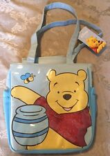 NWT Avon Disney Winnie the Pooh Diaper Bag Messenger Bag Blue changing Pad