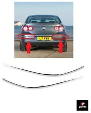 NEW VW PASSAT B6 REAR BUMPER CHROME MOLDING STRIP TRIM SET PAIR 06-10 LEFT+RIGHT